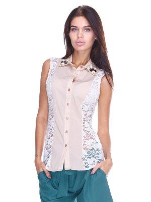 Блуза бежева | 2644991