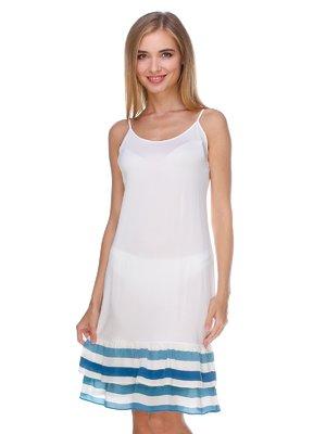 Сукня біла з смужками | 2591006
