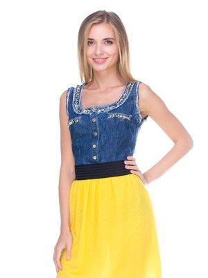 Платье желто-синее | 2638570