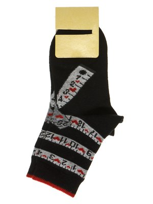 Носки черные с принтом   2654345