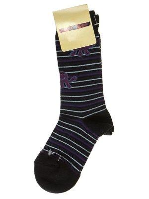 Носки черные в полоску   2654164