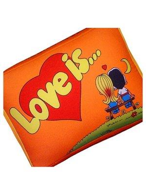 Подушка Love is помаранчева | 2665090