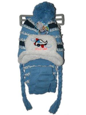 Комплект: шапка, шарф и варежки | 2672342