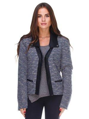 Куртка чорно-синя | 2658511