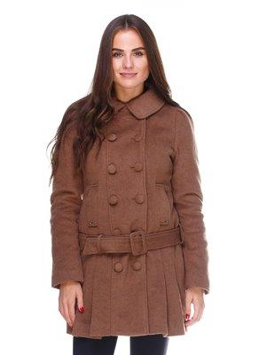 Пальто коричневе | 2658599