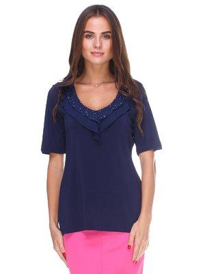 Блуза темно-синяя   2590988