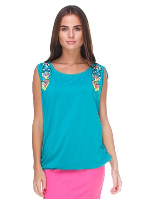 Блуза бирюзовая   2590964