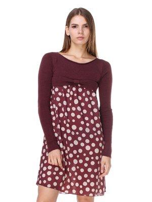 Сукня коричнева в горох | 2659927