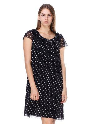 Платье черное в горох | 2660038