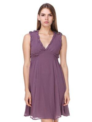 Сукня темно-бузкова | 2659981