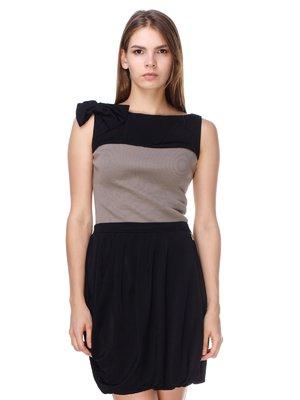 Сукня чорно-бежева | 2659908