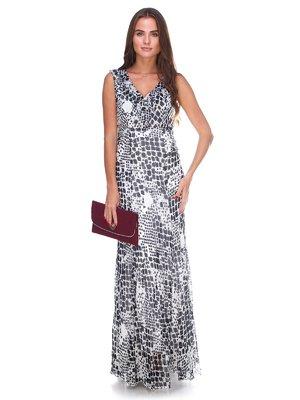 Сукня чорно-біла в принт | 2590966