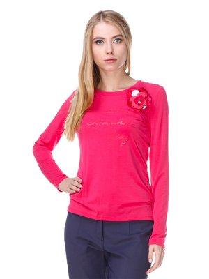 Лонгслив розовый с декором | 2660015