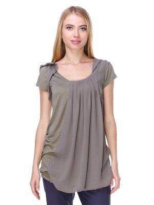Блуза цвета хаки | 2660011