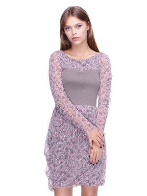 Платье серое в принт | 2659859