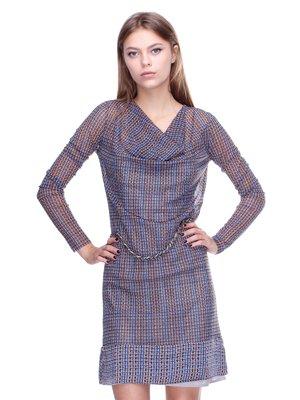 Платье комбинированной расцветки | 2660052