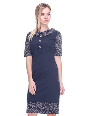 Сукня чорна з принтом | 2640576