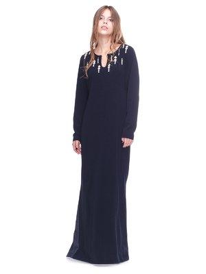 Сукня чорна з декором | 2640601