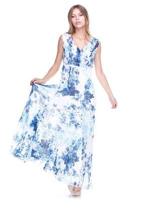 Сукня біла в принт | 2590967