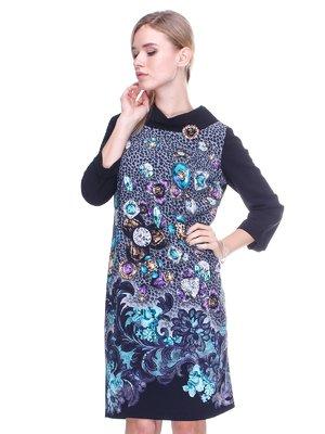 Сукня чорно-сіра | 2640578