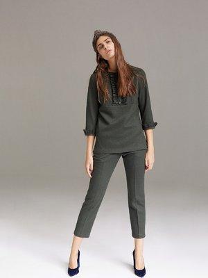 Блуза темно-зеленая | 2679904