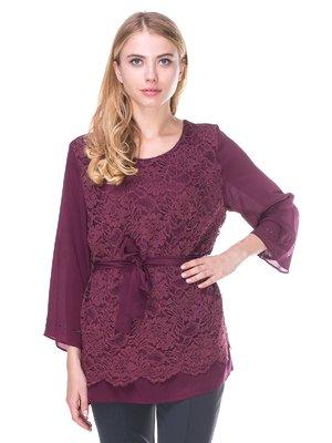 Блуза бордова | 2640517