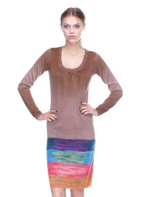 Платье коричневое | 2316558