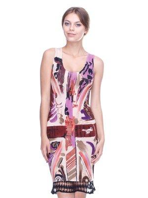Сукня рожева у принт | 2316568