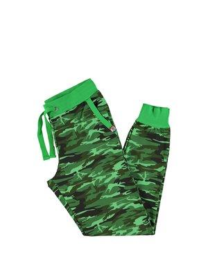 Штаны зеленые с камуфляжным принтом | 2692239