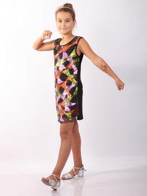 Сукня-туніка чорна декорована | 2091501