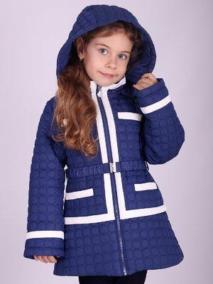 Куртка синя з контрастним оздобленням   2027131