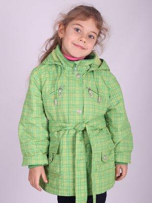 Куртка зеленая в клетку   2027141