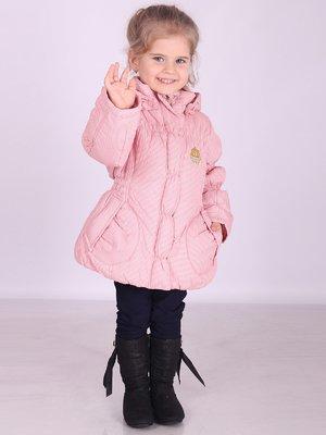 Куртка рожева в дрібну смужку | 2027144