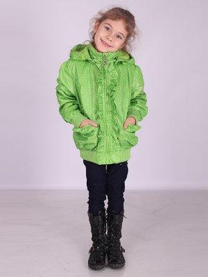 Куртка салатова в горошок | 2027152
