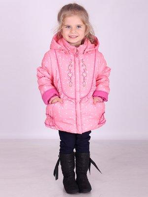 Куртка рожева в горошок | 2027154