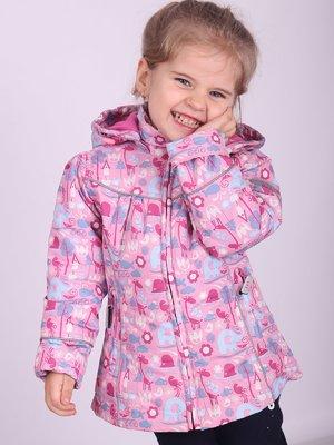 Куртка рожева в принт | 2027158