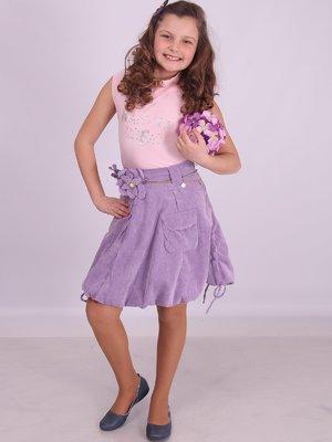 Спідниця фіолетова вельветова | 2030234