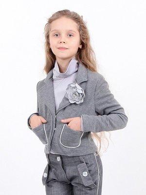 Жакет серый с декором | 2091535