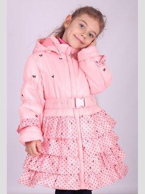 Пальто рожеве в горох і малюнки | 2180592