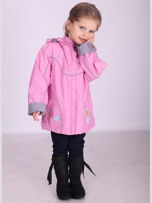 Куртка рожева з принтом | 2261079