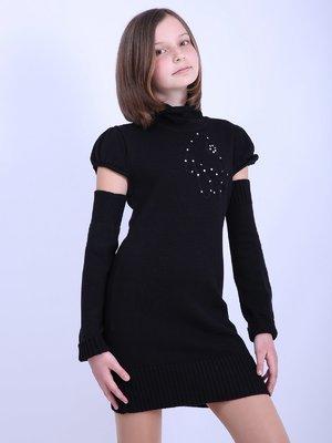 Платье черное с декором   2695919