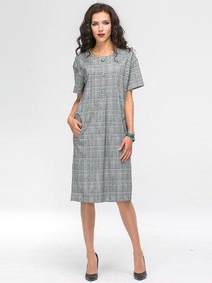 Платье серое в клетку | 2703956