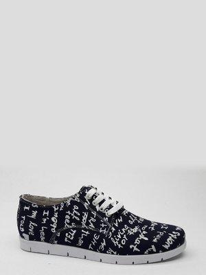 Кросівки сині з принтом | 2708886