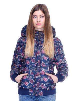 Куртка синяя в цветочный принт   2705265