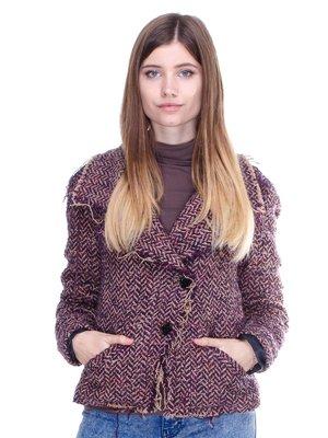 Жакет фиолетовый в рисунок | 2714497
