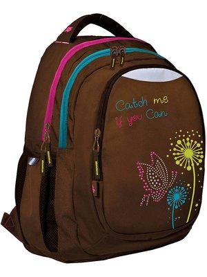 Рюкзак коричневий з принтом | 2700747
