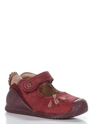 Туфлі бордові з декором | 2736565