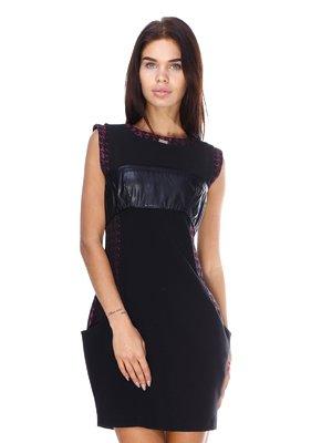 Сукня чорно-бордова | 2768138