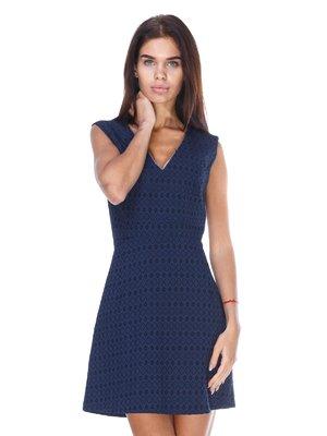 Сукня синя в принт | 2767936