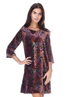 Сукня фіолетова в принт | 2767962